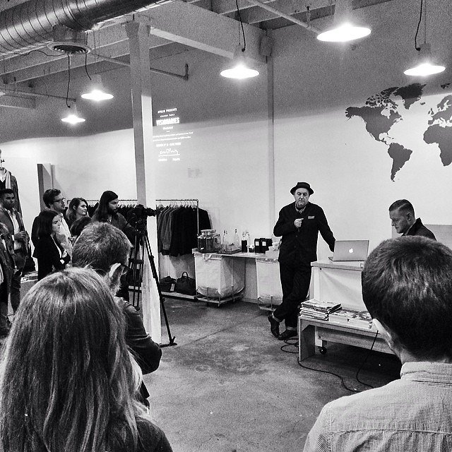 Caught the tail-end of 3rd session of @apolis Common Table Visionaries with the cool Brit  Clive Piercy.