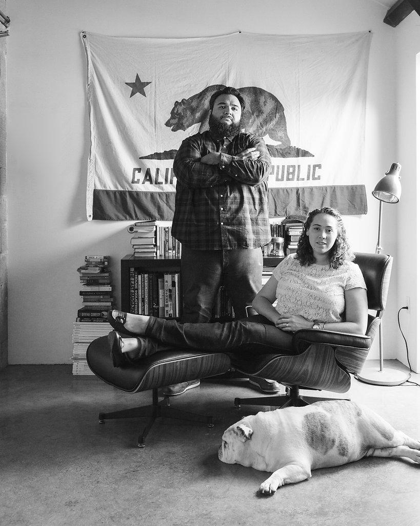 Neph & Becky Trejo at home